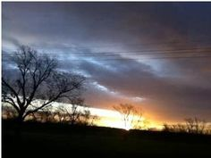 Beth Roller's lovely sunset picture from Big Sandy.
