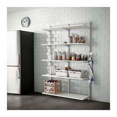 Mix and match pieces of the Algot wall shelving ($67 and up) to achieve the latest home trend of open-air kitchen storage.