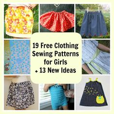 19 Free Clothing Sewing Patterns for Girls + 13 New Ideas - Find #sewing patterns for girls that will make your life easier in terms of projects and your #budget. Learn how to sew skirts, tops, and dresses for every season in this crafty collection.