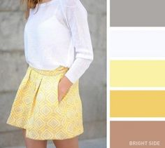 A yellow and white combination-20 brilliant color combos for your wardrobe