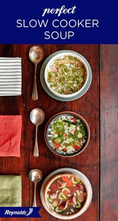 Savory and simple, these Perfect Slow Cooker Soup recipes (Fresh, Spicy, and Hearty) are the ultimate comfort foods for cold winter months. As a bonus, they're easy to make in your slow cooker, and you can use ingredients you probably already have in your kitchen! Use Reynolds® Slow Cooker Liners for fast and easy cleanup in 8 seconds or less, guaranteed, with no soaking or scrubbing.