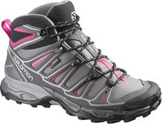 Year after year, Salomon provides the outdoor industry with well-made, comfortable hiking boots and shoes, and this season is no exception. The Salomon X Ultra Mid II Gore-Tex hiking bo. Gore Tex Hiking Boots, Hiking Boots Women, Hiking Pants, Trail Shoes Women, Best Hiking Shoes, Athletic Looks, Walking Boots, Walking Gear, Outdoor Woman