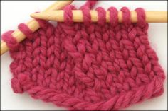 good pictures of different decreases & effect on fabric...Knit Two Together Through Back Loops (k2tog tbl)