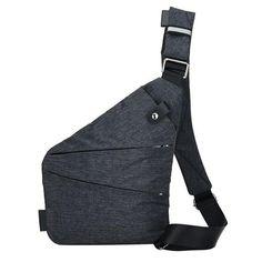 8e0060ec42 Fashion Canvas Chest Bag Men Simple Single Shoulder Bags for Men Crossbody  Bags Anti Theft Male
