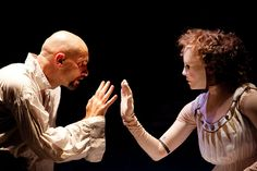 Patrick O'Kane as Doctor Faustus and Coral Messam as Helen Of Troy in Doctor Faustus by Christopher Marlowe. Royal Exchange Theatre, via Flickr.