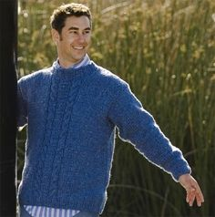 Free Knitting Pattern - Men's Pullovers: Tweed Men's Pullover