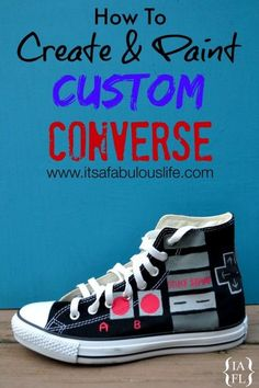 How to Paint Converse & Our Nintendo Converse Shoes - It's A Fabulous Life