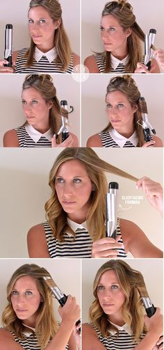 How to curl hair with a curling iron video