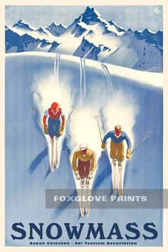 Print on Paper /& Canvas Giclee Poster This Winter Sun Valley  Ski Poster 1950