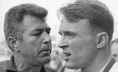 Dan Gurney will forever be one of the most successful and influential people in motorsports. Here with equally influential Carroll Shelby.