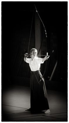larameeee:  Kyudo: 弓道 is Japanese styled Archery. One of the Samurai quality.