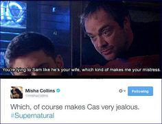 You would, Misha, you would. (Misha live tweeted during the episode that he directed.)