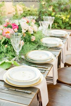 outdoor place settings