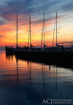 Sailboats - Ellison Bay (Door County, WI) by Aaron C. Jors, via Flickr