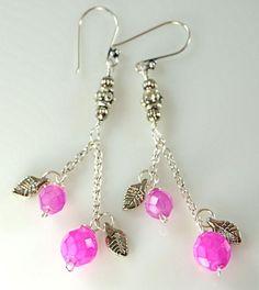 Pink Cotton Candy Earrings Sterling Silver Earwires | $12 Melekdesigns - Jewelry on ArtFire