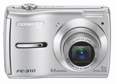 Olympus FE-310 8MP Digital Camera with 5x Optical Zoom (Silver) - For Sale