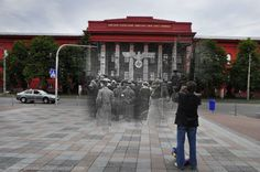 Kyiv in 1942 and now