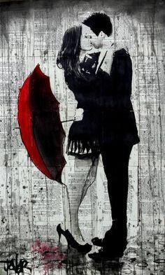 "Saatchi Art Artist Loui Jover; Drawing, ""let it rain..."" #art"