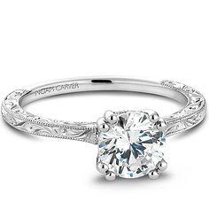 Noam Carver - Bridal Mount - B004-02EA priced from $1,002,  Noam Carver Engagement Ring #diamondring #diamond #engagementring #bling #engaged  sold at Barthau Jewellers, www.barthau.com