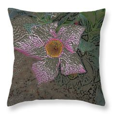 All Throw Pillows - A Flower Throw Pillow by Lovina Wright