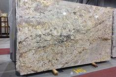 WHITE SPRING GRANITE, the granite that we picked last night! I LOVE IT