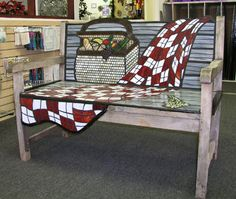 Awesome mosaic bench at McMow Art Glass Studio in Lake Worth, FL