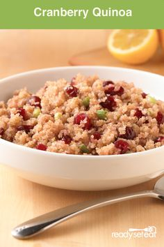 This Cranberry Quinoa recipe, is easy to make, delicious and very healthy for your whole family!