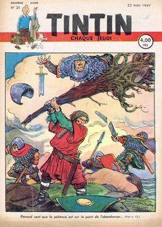 Le Journal de Tintin - Edition Belge - N°  35 - 1947-21 - Jeudi 22 Mai 1947 - Couverture : Jacques Laudy