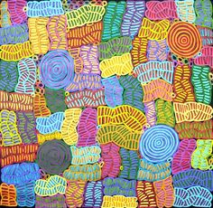 An incredible talent, my favourite Aboriginal artist, Betty Mbitjana -  Awelye & Bush Melon