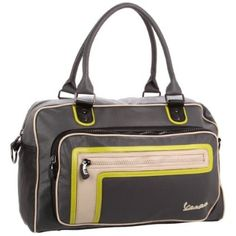 Vespa Men`s VP105584 Duffle Bag,Charcoal,One Size