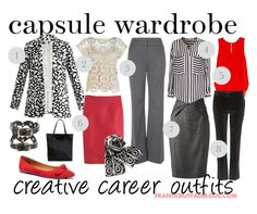 """""""capsule wardrobe: creative career outfit planner"""" by franticbutfabulous ❤ liked on Polyvore"""