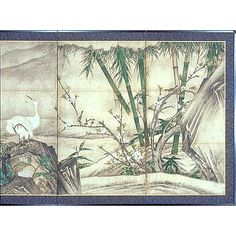 Folding Screen with Flowers and Birds of the Four Seasons, by Geiai, Muromachi Period (17th c), Kyoto National Museum