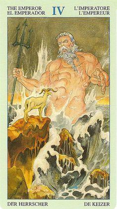 Tarot of Atlantis Atlantis, The Emperor Tarot, Tarot Cards Major Arcana, Tarot Prediction, Divination Cards, Online Tarot, Tarot Card Decks, Tarot Readers, Greek Art