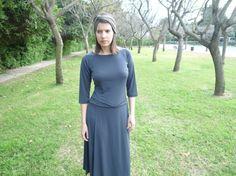 Gray dress modest dress modest chic modest look  by TAMAR LANDAU,