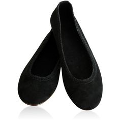 EVA. Black flats / suede flats / suede shoes / womens shoes / black... (€97) ❤ liked on Polyvore featuring shoes, flats, footwear, suede flats, black leather flats, black ballet shoes, black flats and leather ballet flats