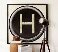 Hand Me Down Mom Genes: Pottery Barn Inspired Typewriter Key Prints Pt 2