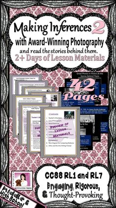 A follow up to a best-selling product, this mini unit includes a PowerPoint with Famous Award-Winning Photographs with lesson material. This mini unit takes two-three days, depending on the depth at which you choose to take it, and leaves students wanting to know more. And, to set the mood, don't forget to add some sad, moving classical music playing softly in the background. Engage students affectively and cognitively! This is one of the lessons I look forward to teaching every year!