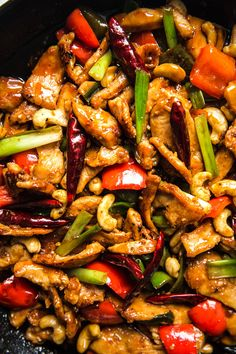 Our Kung Pao chicken recipe swaps in cashews for the traditional peanuts, and gets extra balance from some added veggies. All the spicy Kung Pao goodness that you crave, no day-after regrets. Kung Pao Chicken Recipe Easy, Easy Chicken Dishes, Chicken Dishes For Dinner, Chicken Stir Fry, Fried Chicken, Food Dishes, Main Dishes, Dishes Recipes, Ham Recipes