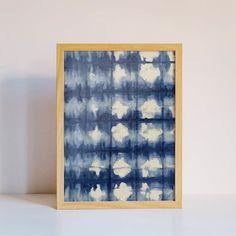 An Indigo Shibori Printable Art #print #digitalfile #printableart #walldecor #ikeasize #modern #blueandwhite #abstract #livingroom #artandcollectibles #bedroom #shibori #indigo