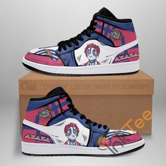 Custom Sneakers, Custom Shoes, Demon Slayer, Slayer Anime, Air Jordan Shoes, Jordan Sneakers, Sneaker Stores, Snug Fit, Leather Shoes
