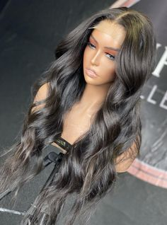 Black Hair Curls, Long Black Hair, Thick Hair, Frontal Hairstyles, Baddie Hairstyles, Hairstyles With Curled Hair, Long Curled Hair, Hair Extensions For Short Hair, Honey Hair