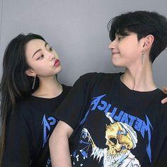 couple, korean, and girl image