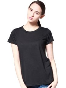 Black Fashion Personality Hollow Solid Color T-shirt