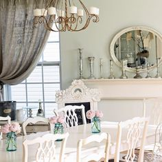 Dining Room Shabby Chic Dining Room Design, Pictures, Remodel, Decor and Ideas - page 6