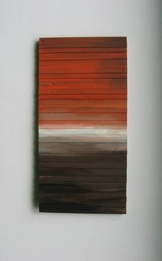 Wood Wall Art Reclaimed Wood by RusticModernDesigns. Love the idea of a painting on textured wood wall art. :D