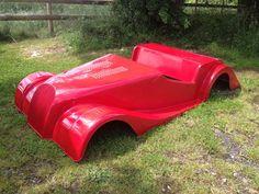 morgen 2/thirds size pedal car tot rod classic car fiberglass sports