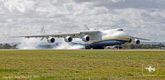 Antonov An-225 arriving at @Perth Airport