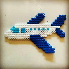 Airplane hama beads by carlfhoward