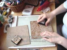 vintage paper tutorial with staz on and distress ink