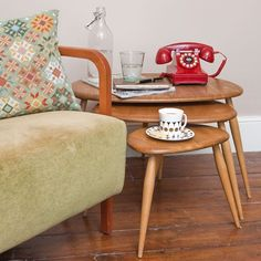 Nest of tables | Mid-century | Edwardian | PHOTO GALLERY | Ideal Home | housetohome. Love the tables.